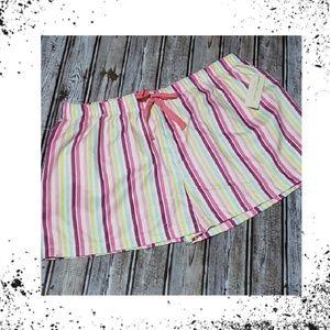 Other - NWT Bright Striped Women's Sleep Shorts Sz M